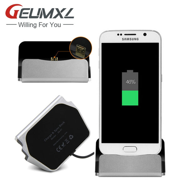 For Samsung S8 Plus Xiaomi Huawei LG HTC Android Phone Micro Type-C iPhone Dock Charger Sync Data Docking Station Charging
