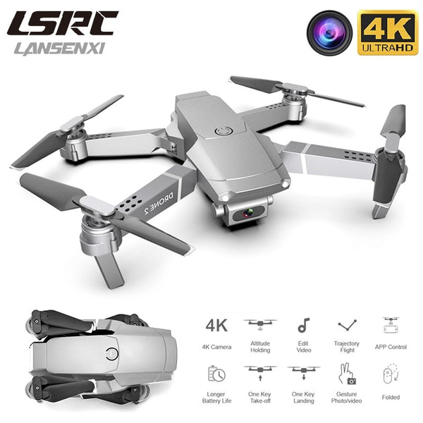 LANSENXI 2020 E68 Mini Drone 4K 1080P Wide Angle Camera Drone Wifi FPV Height Hold Mode RC Foldable Quadcopter Drone Toy Gift
