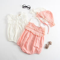 New Baby's Sets Solid O-Neck Rompers