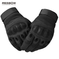 Military Soft Knuckle Tactical Gloves Army Airsoft Paintball Gloves Full Finger Motorcycle Riding Gloves Black