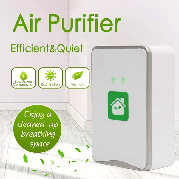 Pluggable Air Purifier Negative Ion Generator Filterless Ionizer Purifier Clean Allergens,Pollutants,Mold,Odors