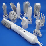 Supply multi-function direct hair furl hair dryer comb high power home hair style instrument set 10