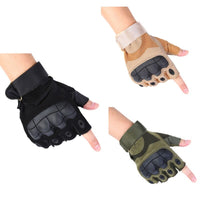 Tactical Fingerless Gloves Military Army Shooting Bicycle Paintball Airsoft Carbon Hard Knuckle Half Finger Gloves 3 Colors 2019