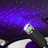 USB LED Car Roof Star Night Interior Light Atmosphere Galaxy Lamp Projector Decorative Lamp Adjustable Multiple Lighting Effects