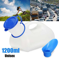 1200ML Unisex Portable Urine Urinal Toilet Aid Bottle For Traveling Camping Outdoor+Feminine Adapter