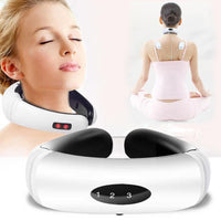 Electric Pulse Back and Neck Massager Far Infrared Heating Pain Relief Tool Health Care Relaxation Body Massager