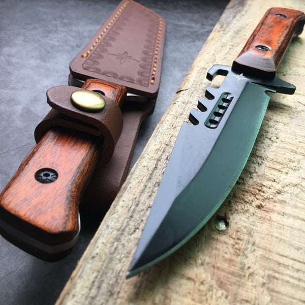 Military Tactical Gear Camping Hunting Knives Fulltang Fixed Blade Wilderness Survival Self-Defense Fighting Bowie Knife