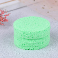 5pcs High Quality Face Washing Product Natural Wood Fiber Face Wash Cleansing Round Sponge Beauty Makeup Tools Cleaning