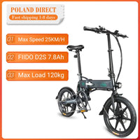 [EU Direct] FIIDO D2/ D2S Shifting Version 36V 7.8Ah 250W 16 Inches Folding Moped Electric Bike 25km/h Max 50KM Electric Bike