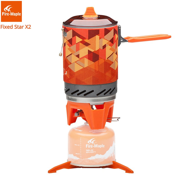 Fire Maple X2 Outdoor Gas Stove Burner Tourist Portable Cooking System With Heat Exchanger Pot FMS-X2 Camping Hiking Gas Cooker