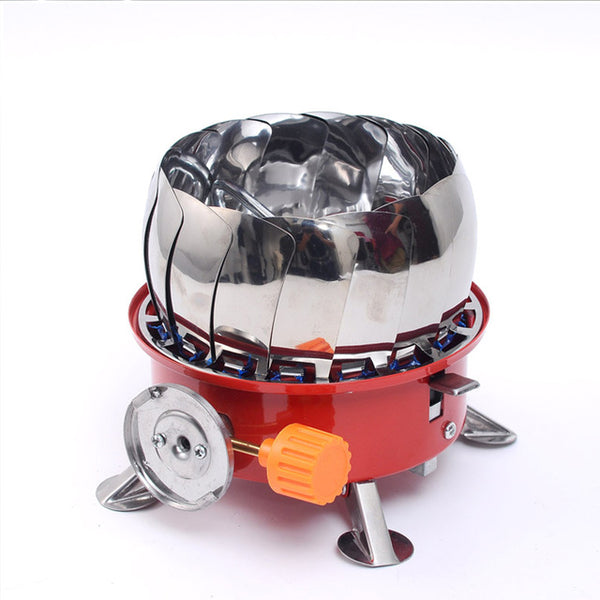 15 Windshields Windproof Stove Cooker Cookware Gas Burners for Camping Picnic Cookout BBQ With Extended Pipe Gas Stove Outdoor