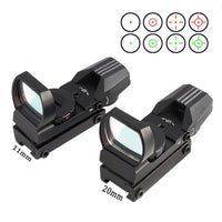 Marotui 11/20 mm Rail Mount Riflescope Hunting Optics Holographic Red Dot Sight Reflex 4 Reticle Tactical Gun Accessories