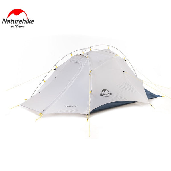Naturehike Ultralight 2 Man 15D Camping Tent NH Cloud Up-Wing Outdoor 2 Person Camp Tent (Industry Award Type)