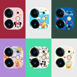 Cute Camera Protector Case For iPhone 11 Pro Max Cartoon Cute Camera Tempered Glass Lens Protection Camera Sticker Screen Cover