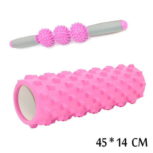 45/14CM Yoga Foam Pilate Fitness Roller EVA Sports Hollow Core Column Massage Grid Floating Trigger Point Therapy Exercise block