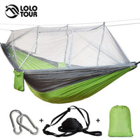 Wholesale Portable Mosquito Net Hammock Tent With Adjustable Straps Carabiners Large Stocking 7 Colors Outdoor Camping Hammock