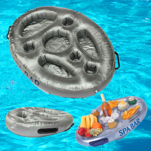 Inflatable Spa Bar Hot Tub Spas Pool Floating Drinks and Food Holder Tray