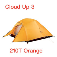 Naturehike Upgraded Cloud Up Series Ultralight Camping Tent Waterproof Outdoor Hiking Tent 20D Nylon  Tent With Free Mat