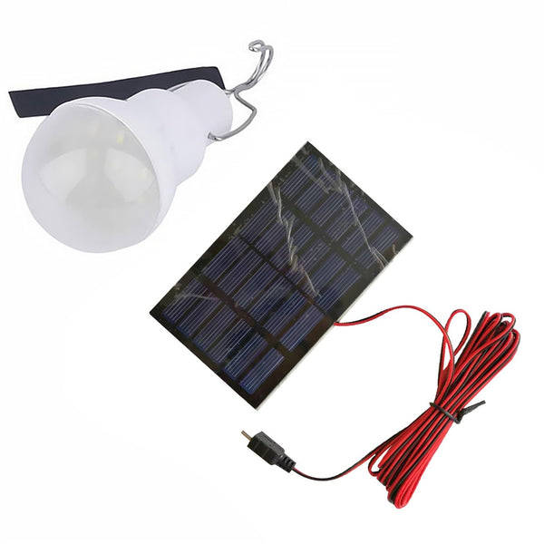 Portable Solar Emergency Lamp Rechargeable Waterproof Fishing Hanging Outdoor Camping Light LED Bulb