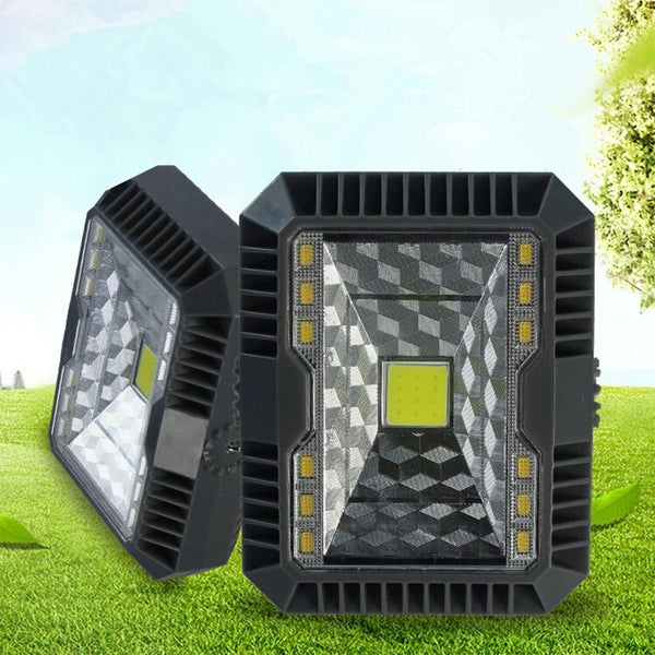 SOLLED COB Solar Camping Light Super Bright Square Portable Rechargeable Emergency Outdoor Camping Light