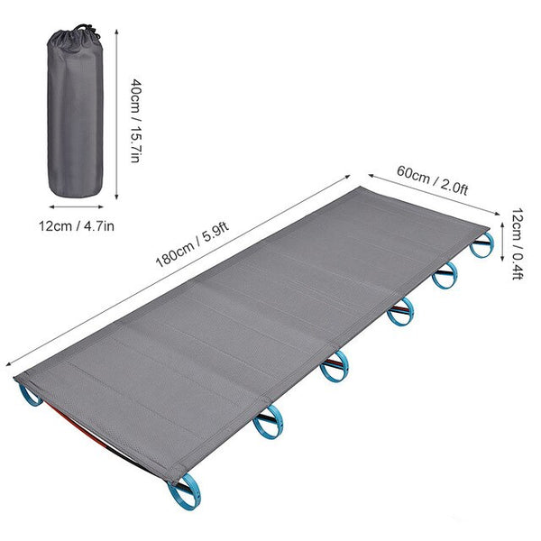 Folding Single Camping Bed Travel Cot Tent Bed Aluminium Alloy Metal Frame Outdoor Portable Camping Fishing Mat Beds