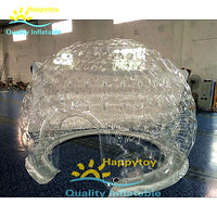 3M ,4M,5M outdoor rental clear pvc camping air inflatable dome bubble tent