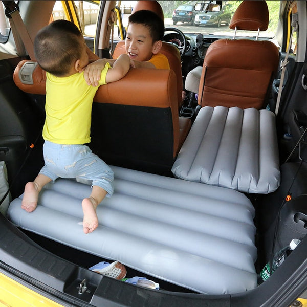 100*53*10cm Inflatable Car Mattress Portable Outdoor Travel Camping Air Bed Foldable Car Trunk Cushion Children Bed