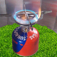 Portable outdoor camping gas stove burner fuel tank joint gas cooker cooking camping stainless steel gas Mini stove