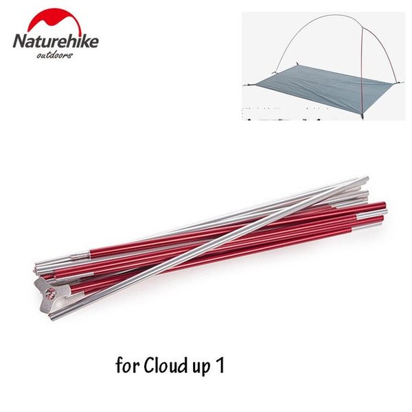 Naturehike tent pole for cloud up 1 2 3 series tent accessories support and rod