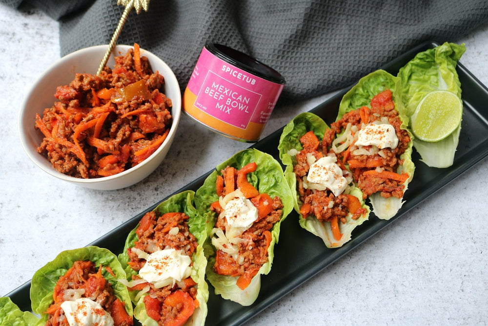 Mexican Beef Lettuce Cups