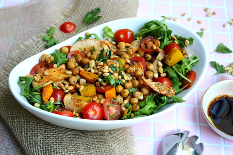 Roasted Chickpea, Pumpkin & Apple Salad by Katie-Rose Campbell