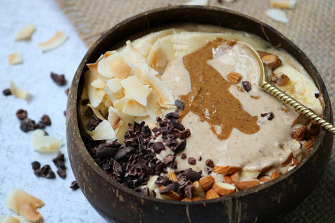 Salted Coconut and Cinnamon Smoothie Bowl by Jess Moses