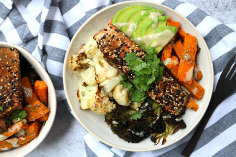 Asian Salmon Buddha Bowl