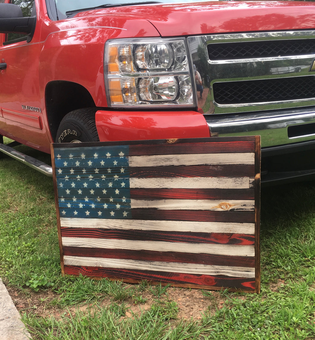 Small flat Red, White, and Blue American Flag