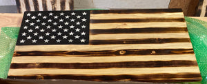 Small Flat charred American Flag