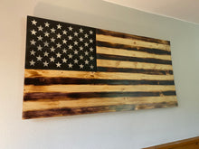 Load image into Gallery viewer, Large Flat charred American Flag