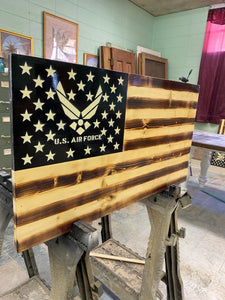 U.S. Airforce flag. Large/charred