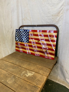 Small traditional wavy American flag