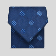 Load image into Gallery viewer, Deep Blue And Light Blue Large Polka Dots Classic Tie