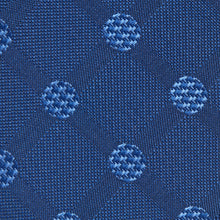 Load image into Gallery viewer, Deep Blue And Light Blue Large Polka Dots Classic Tie Fabric
