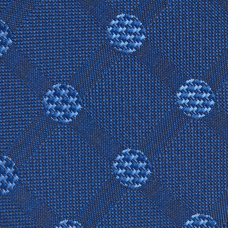 Deep Blue And Light Blue Large Polka Dots Classic Tie Fabric