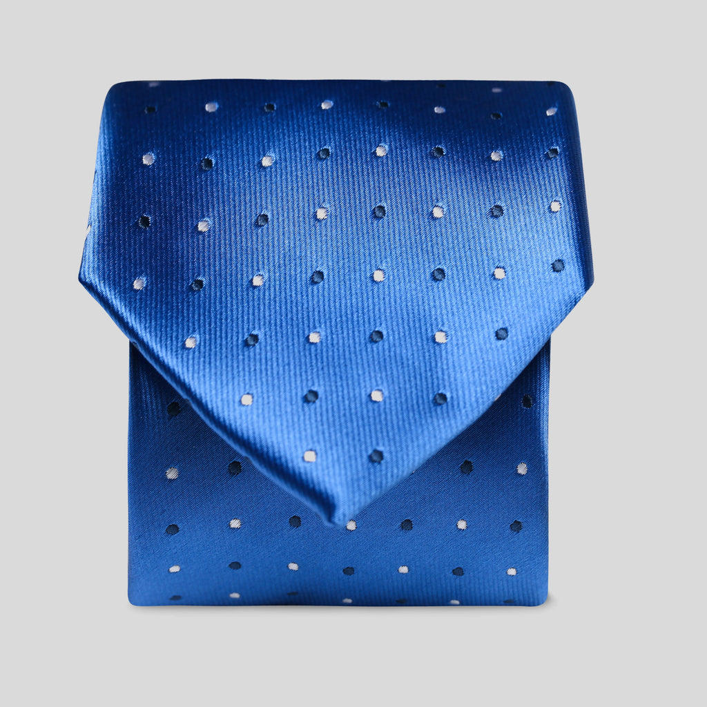 Folkespeare Blue And Dark Blue Polka Dot Classic Tie