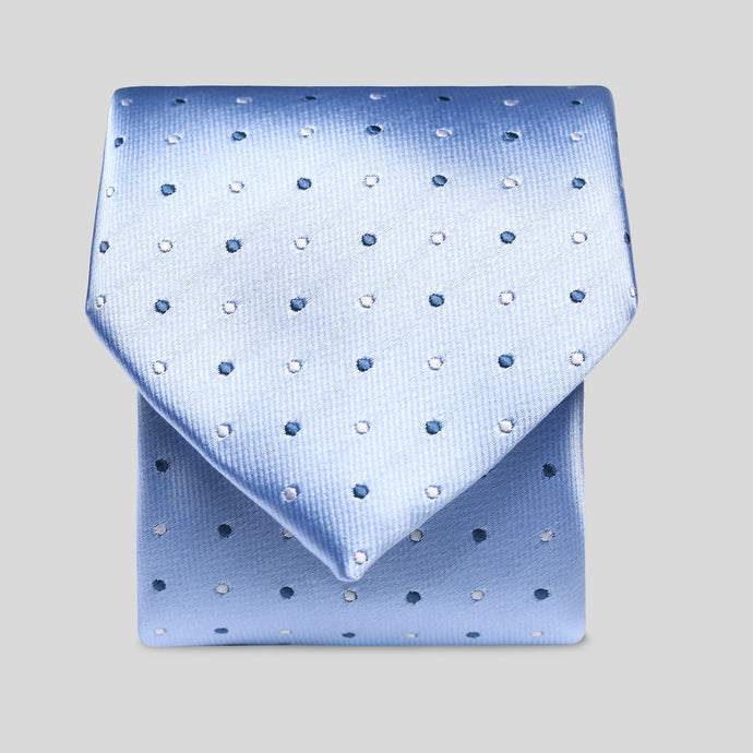 Folkespeare Light Blue And Dark Blue Polka Dot Classic Tie