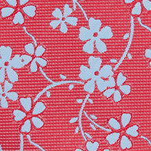Load image into Gallery viewer, Red With Blue Flower Classic Tie Fabric