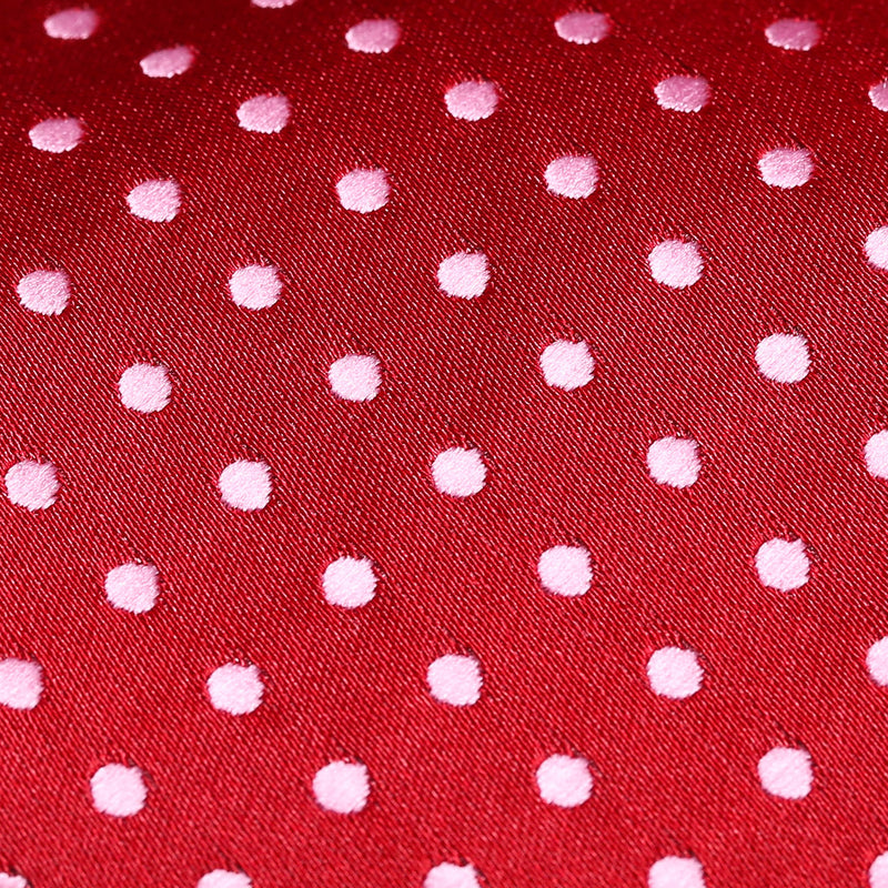 Folkespeare Dark Red And Light Pink Polka Dot Classic Tie Fabric