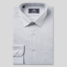 Load image into Gallery viewer, 4641-Rael-Brook-Classic-Fit-Grey-Dobby-Check-Single-Cuff-Shirt-1