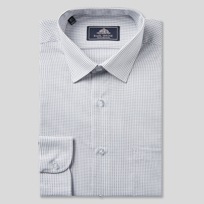 4641-Rael-Brook-Classic-Fit-Grey-Dobby-Check-Single-Cuff-Shirt-1