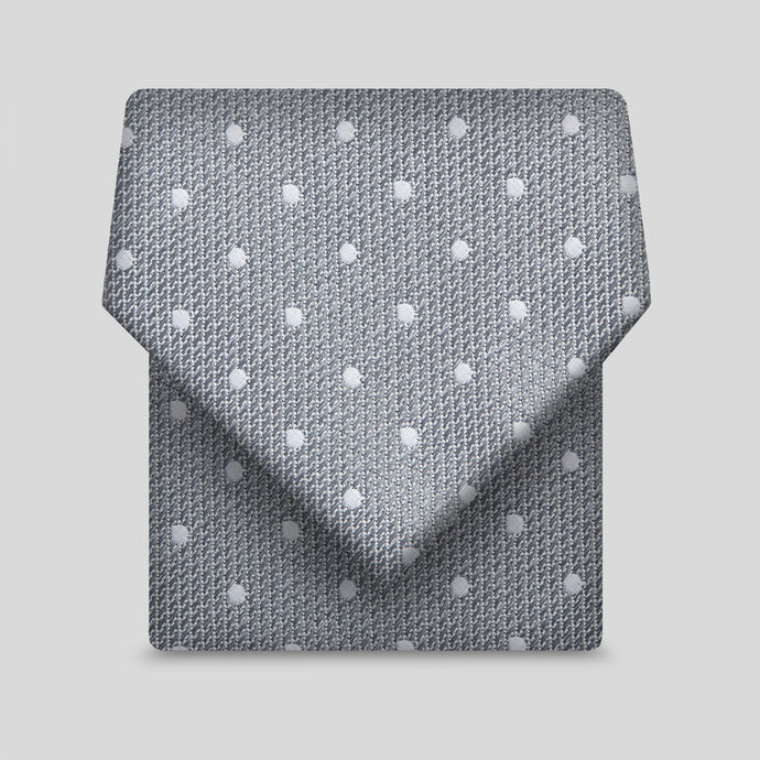 Grey With White Dots Classic Tie