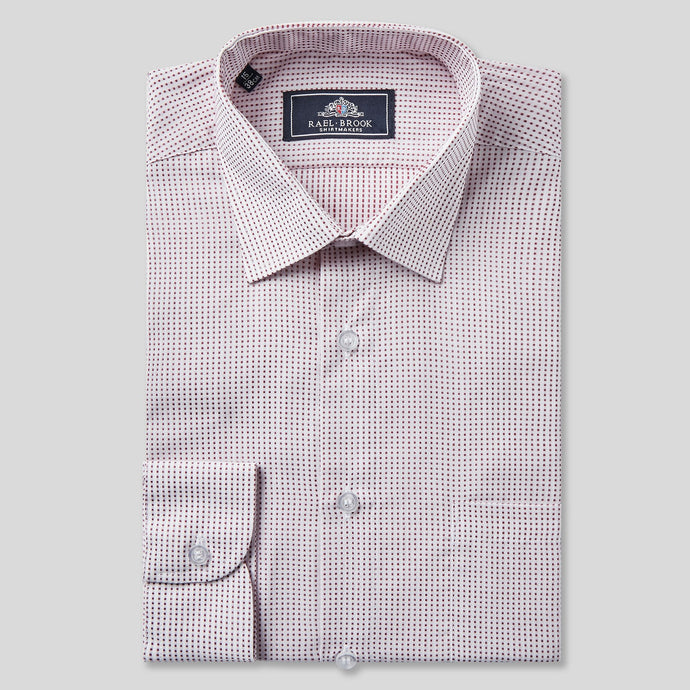 4642-Rael-Brook-Classic-Fit-Red-Dobby-Check-Single-Cuff-Shirt-1