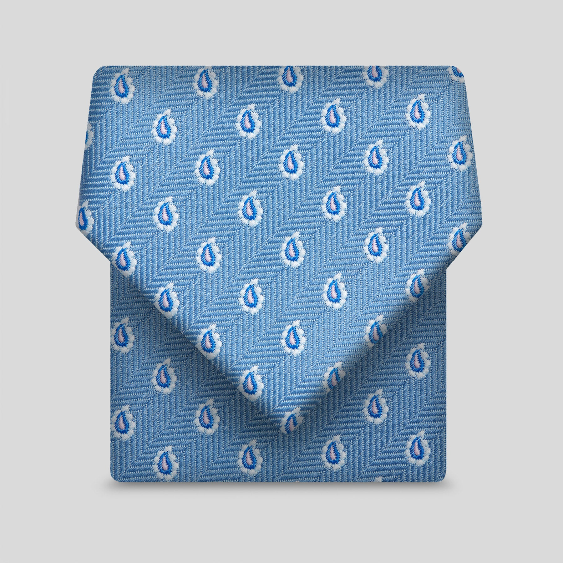 Airforce With White Edged Tear Drops Classic Tie